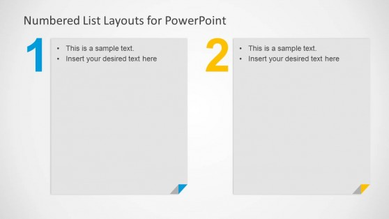 Two Items Slide Design for PowerPoint