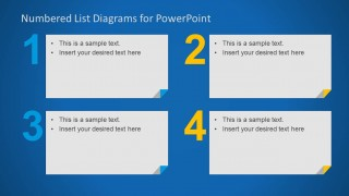 Numbered List Template for PowerPoint with 4 Items