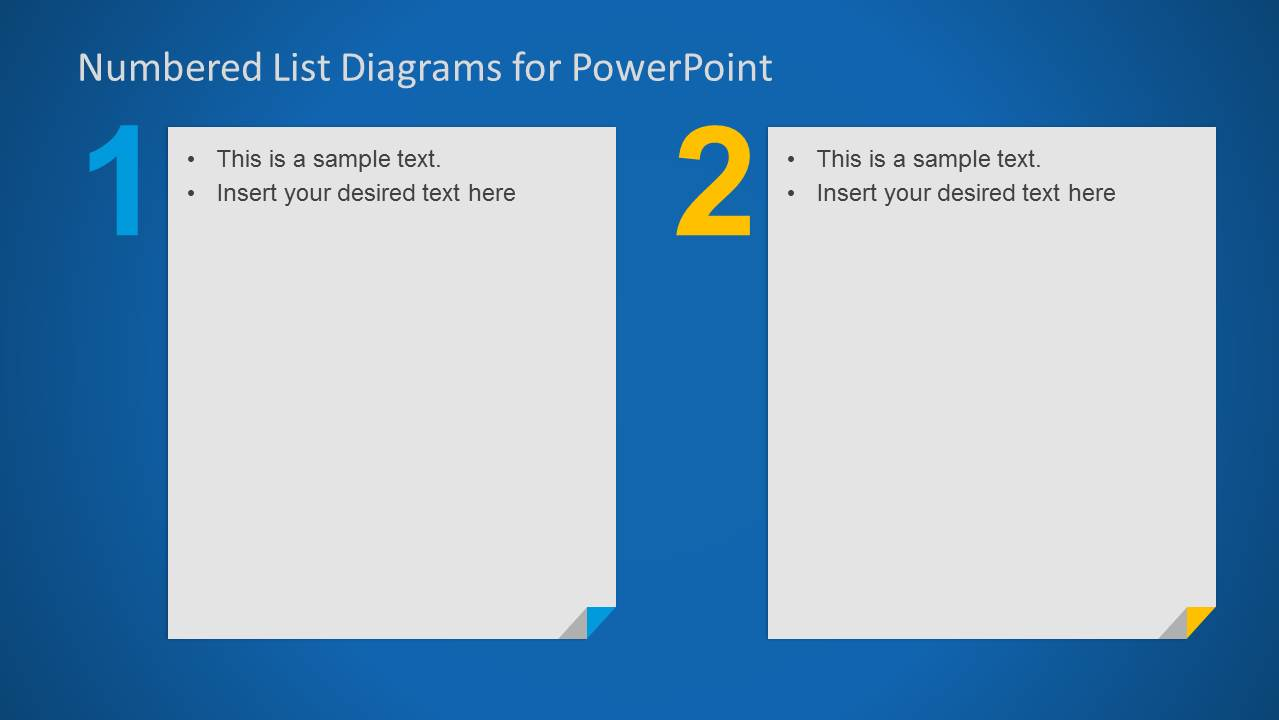 2 Columns Numbered List for PowerPoint