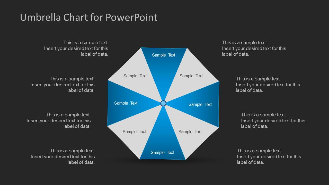 umbrella chart diagram for powerpoint