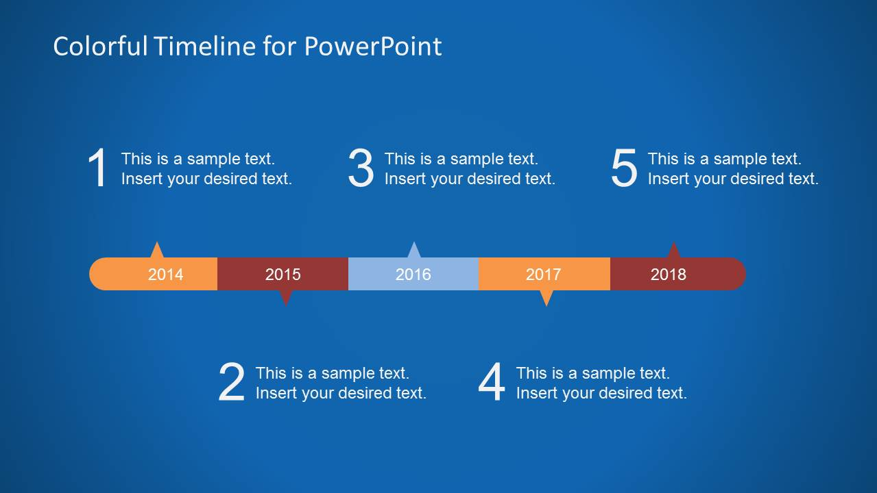 Colorful timeline template for powerpoint slidemodel toneelgroepblik Image collections