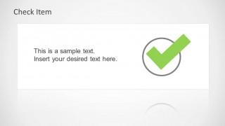 Check Mark in PowerPoint Slide Design