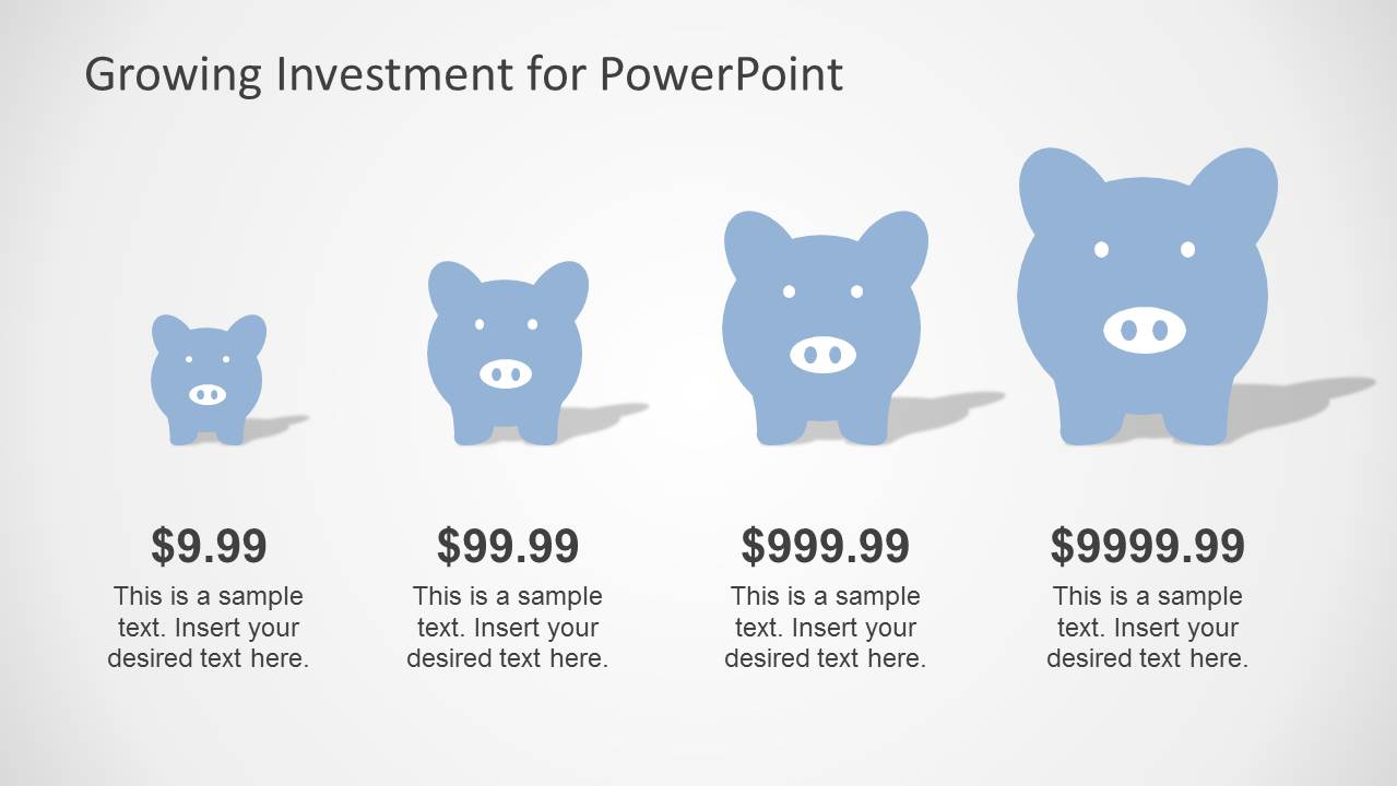 Blue growth investment powerpoint template slidemodel powerpoint investment clipart design for investment powerpoint chart piggy bank clipart toneelgroepblik Gallery