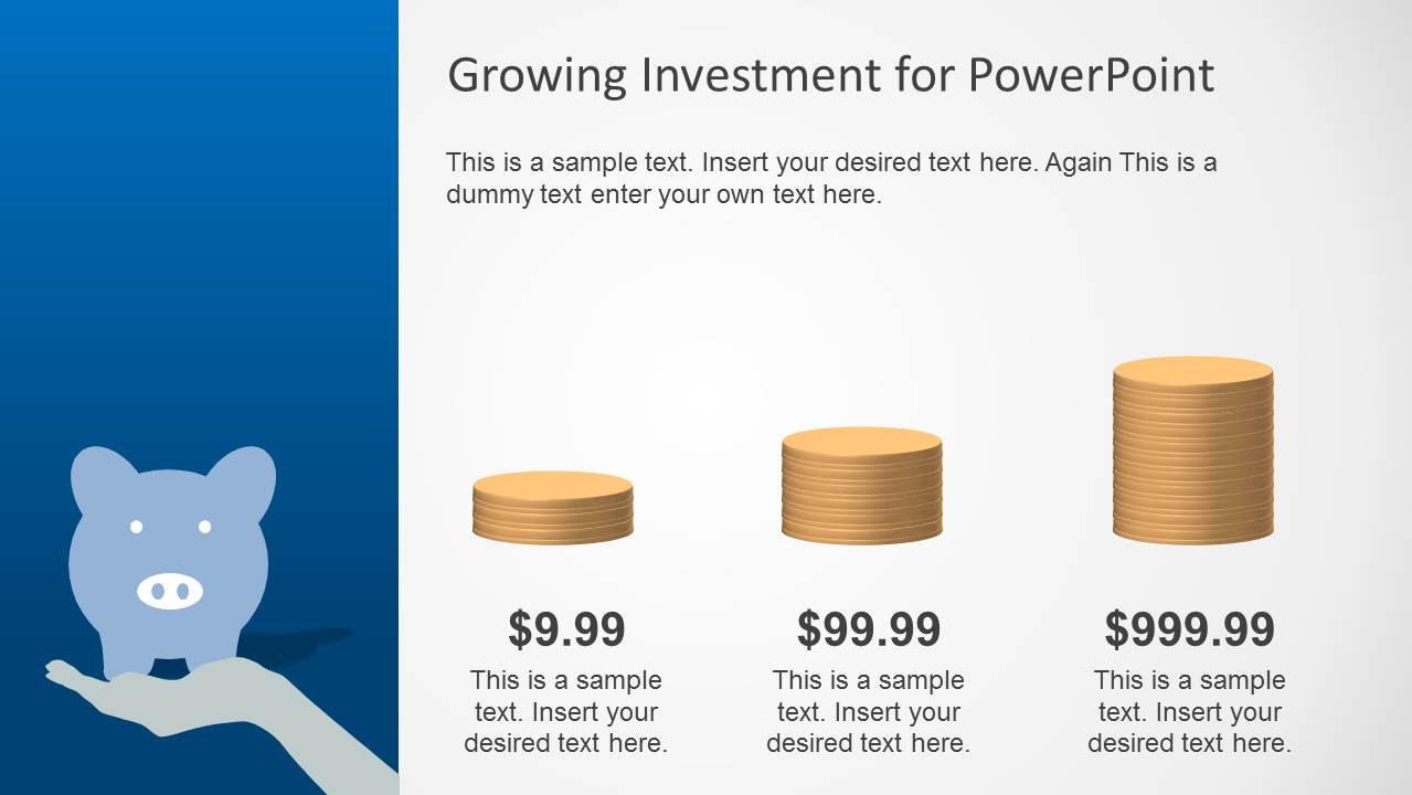 Blue growth investment powerpoint template slidemodel powerpoint bar chart with golden coins clipart toneelgroepblik Image collections