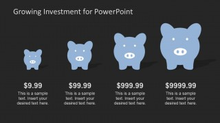 PowerPoint Shapes of Piggy Banks Different Sizes