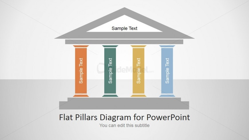 Four pillars powerpoint template