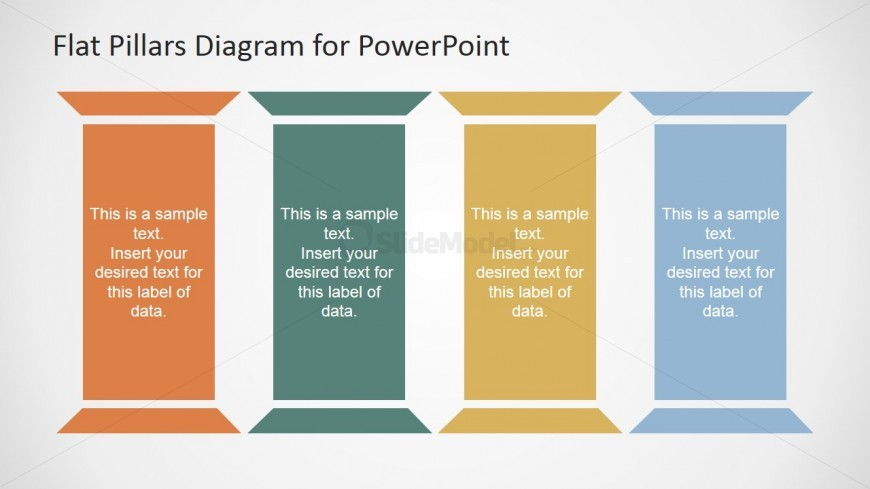 Enlarged Four Pillars Perfect For A Marketing Plan