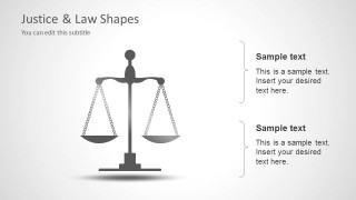 Balanced Scale Justice PowerPoint Template