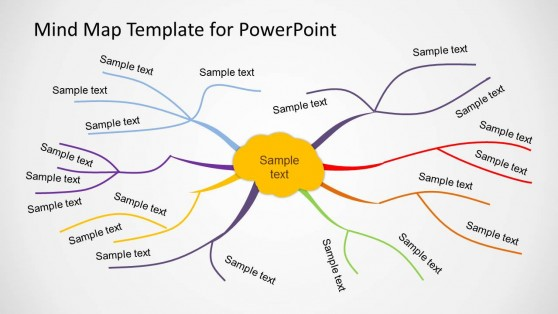 Charming Creative Mind Map Template For PowerPoint