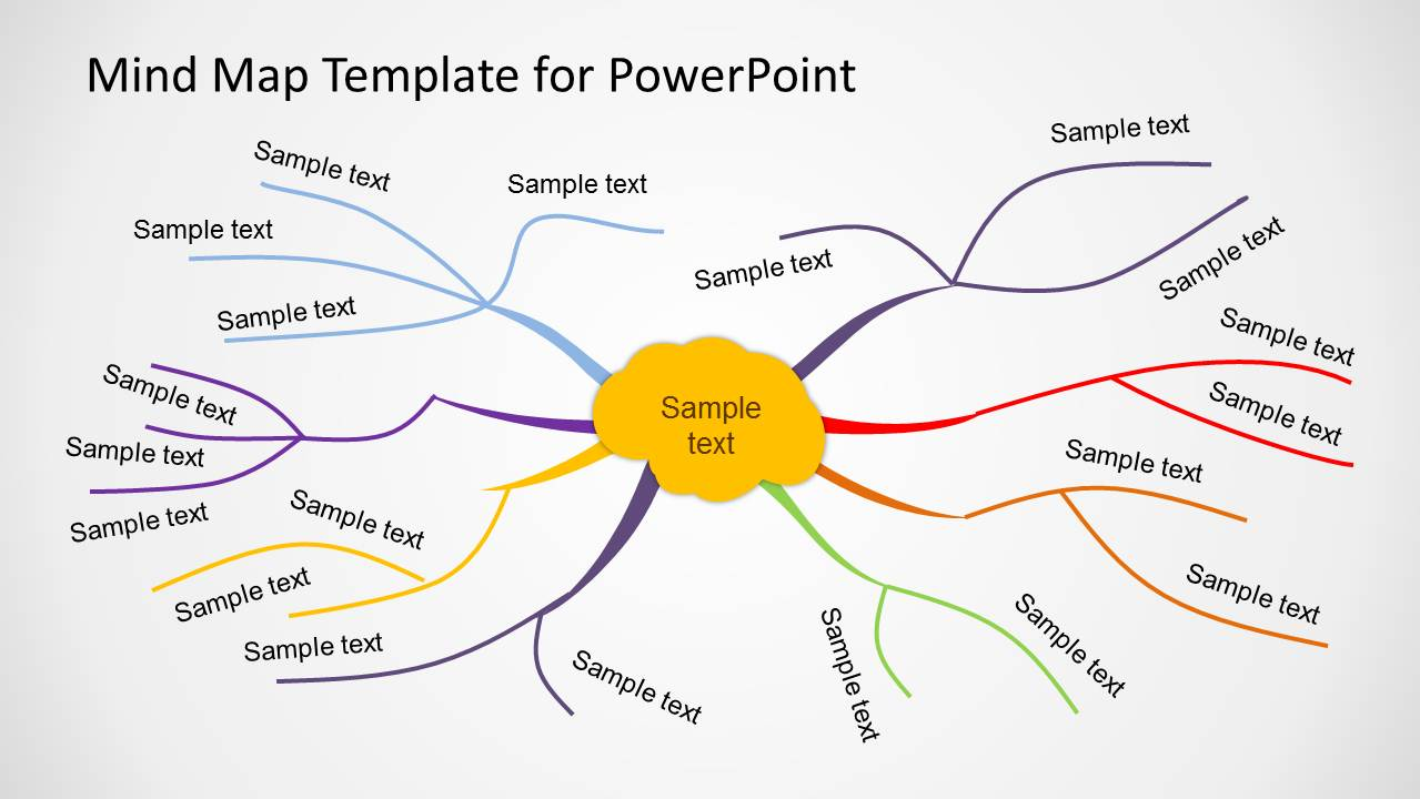 creative mind map template for powerpoint - slidemodel, Modern powerpoint