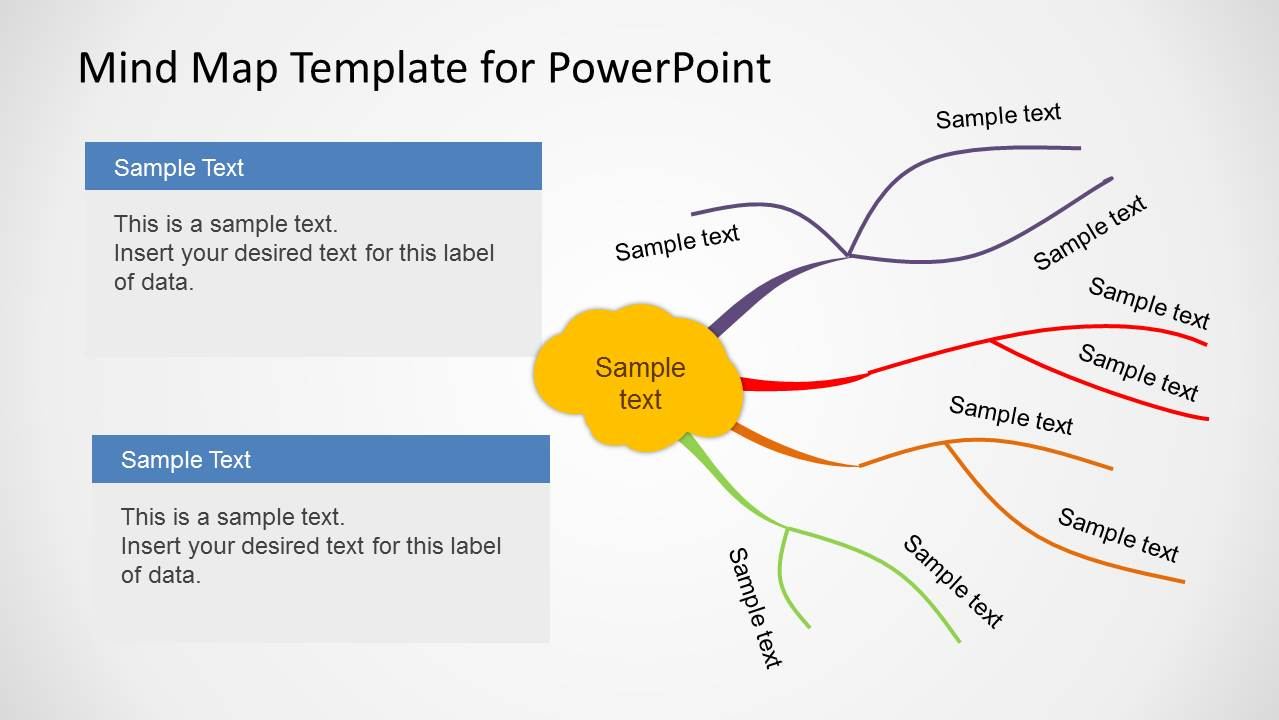 mind map template powerpoint free download - creative mind map template for powerpoint slidemodel