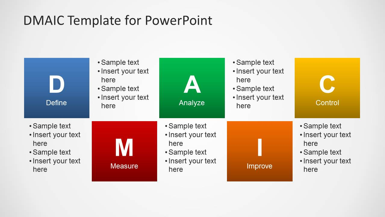 Dmaic template for powerpoint slidemodel toneelgroepblik