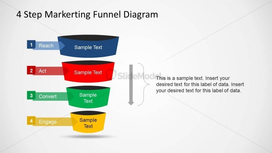 PowerPoint Marketing Funnel Act Convert Transition