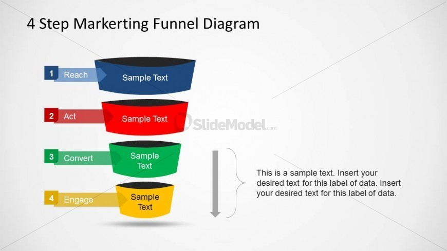 PowerPoint Marketing Funnel Convert Engage Transition
