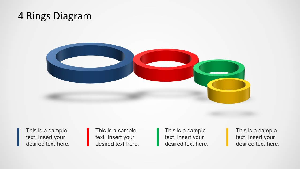 4 Rings Diagram Template For Powerpoint