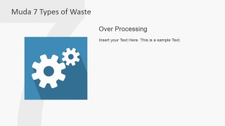 PowerPoint Gears Clipart Describing Over Processing Muda Waste Type