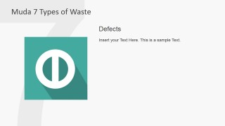 PowerPoint Icon Metaphor for Defects Muda Waste Type