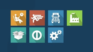 PowerPoint Icons of Seven Muda Waste Types TPS