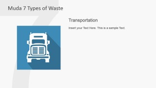 PowerPoint Descriptions Slide with Clipart of Transportation Muda