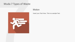 PowerPoint Icon Metaphor for Motion Muda Waste Type
