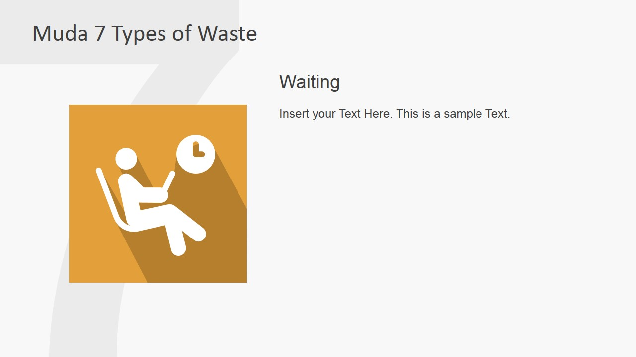 PowerPoint Clipart Describing Waiting Waste Type of TPS