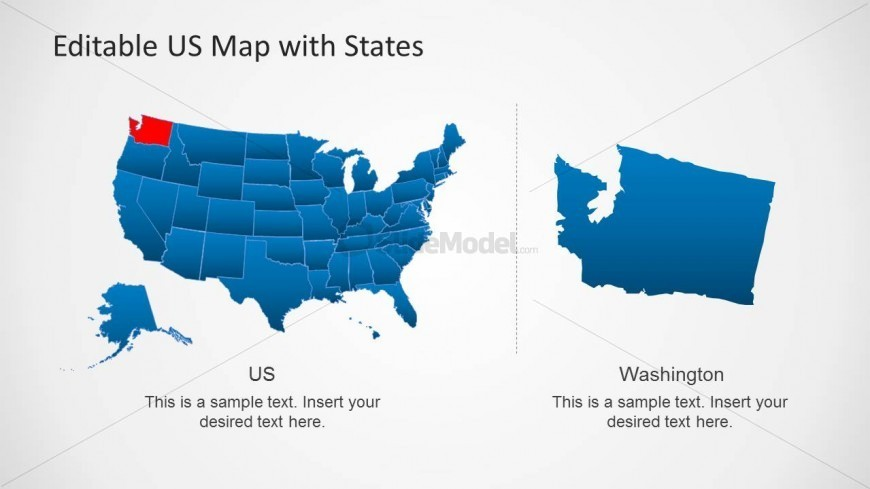 Presentation Template of US Map for PowerPoint SlideModel