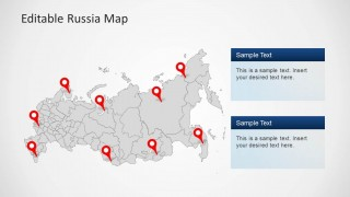Editable russia map template for powerpoint slidemodel editable russia map template for powerpoint fully customizable this russian map template can support personal and professional reports on numerous toneelgroepblik Choice Image