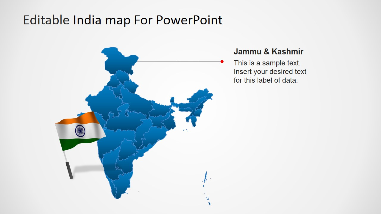 editable india map template for powerpoint slidemodel