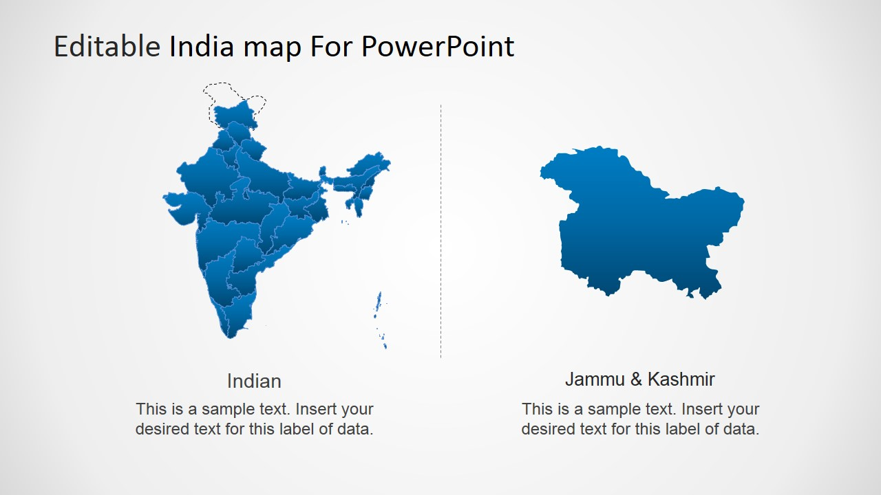 editable india map template for powerpoint - slidemodel, Modern powerpoint
