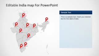 Editable india map template for powerpoint slidemodel editable india map template for powerpoint is a presentation template for microsoft powerpoint containing useful slide designs with map shapes that you can toneelgroepblik Choice Image