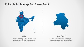 Editable India Map Template For Powerpoint Slidemodel