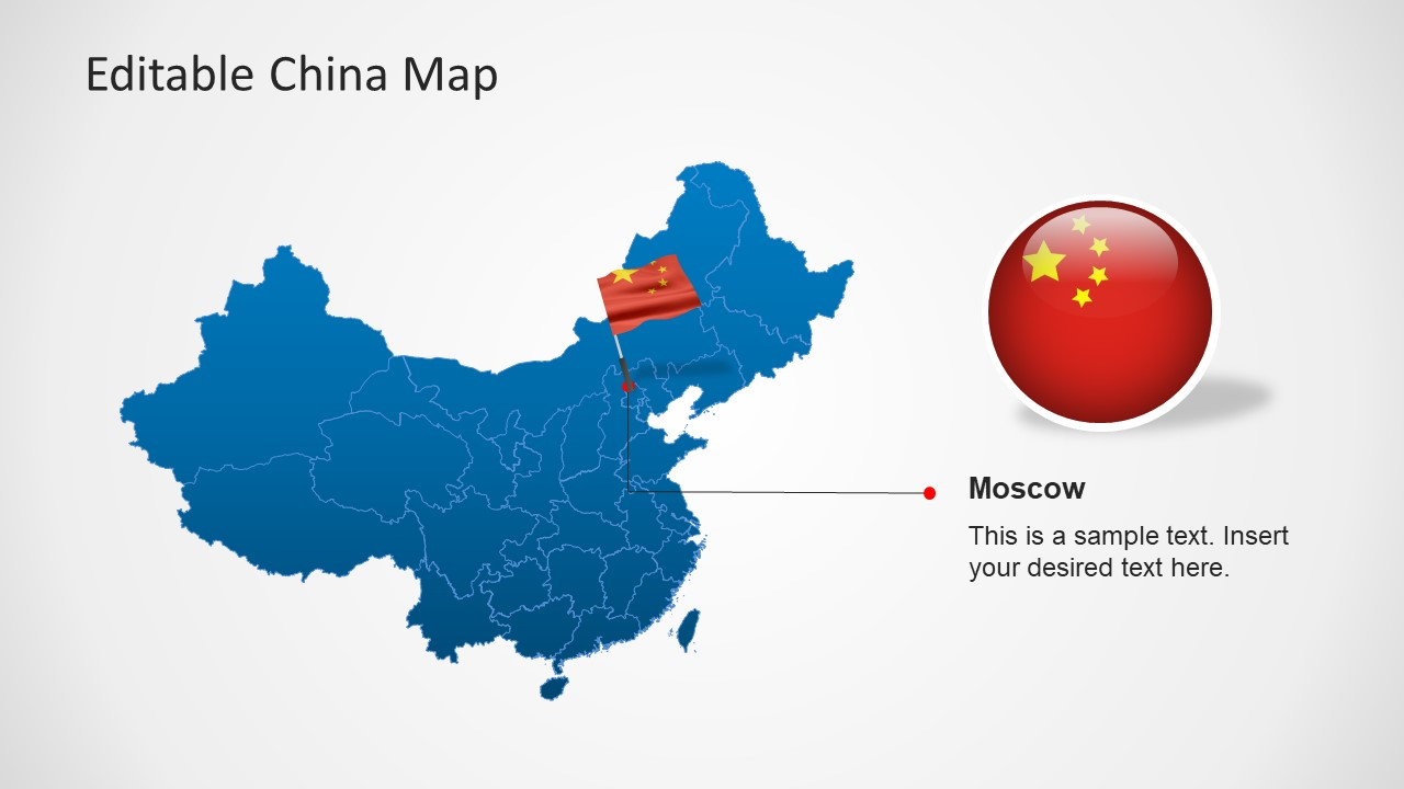 PowerPoint Map of China