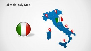 Editable italy map template for powerpoint slidemodel editable italy map template for powerpoint is a presentation template containing a map of italy with useful slide designs toneelgroepblik Gallery