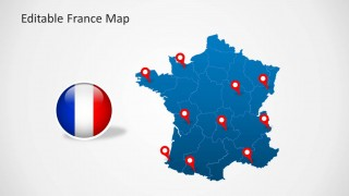 PowerPoint Template of France Map