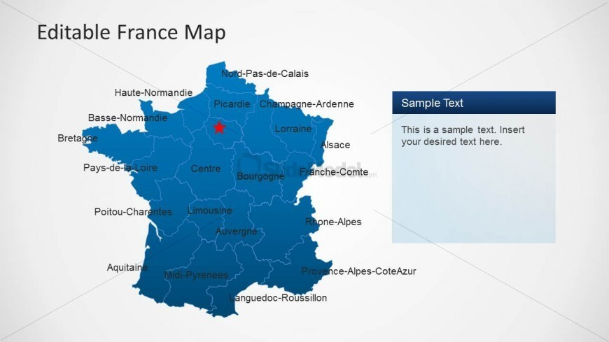 Map of France PowerPoint Template