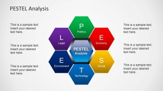 PESTEL Honeycomb Structure Design for PowerPoint