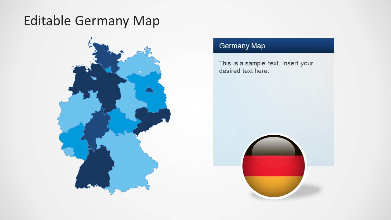 Editable germany map template for powerpoint slidemodel powerpoint map of germany powerpoint template of germany map toneelgroepblik Gallery