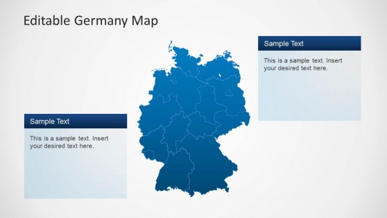 Editable Germany PPT Map