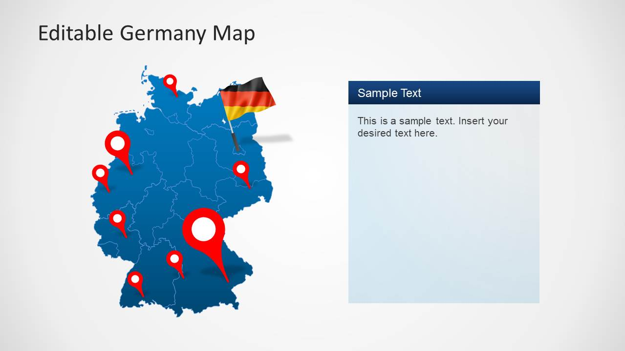 Editable germany map template for powerpoint slidemodel ppt template of germany map toneelgroepblik Images
