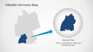 Map of Germany with State PowerPoint Template