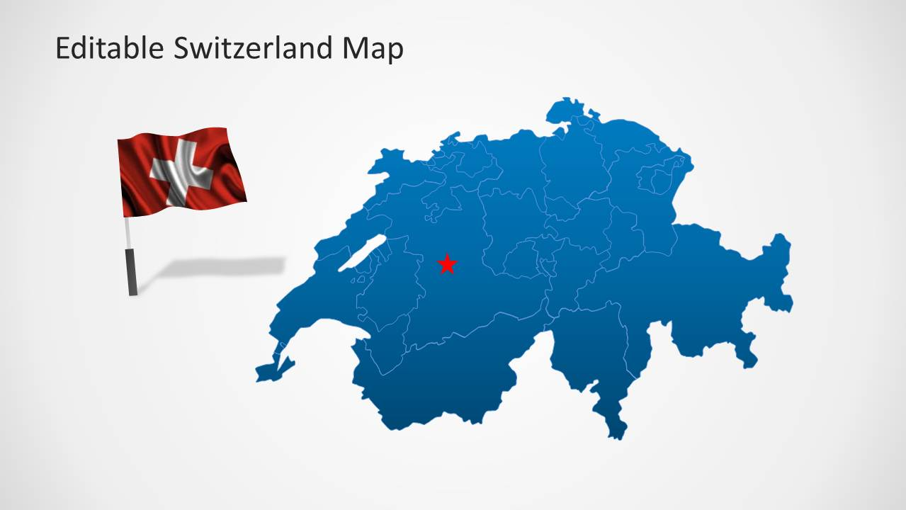 Editable switzerland map template for powerpoint slidemodel switzerland flag map template for powerpoint gumiabroncs Images