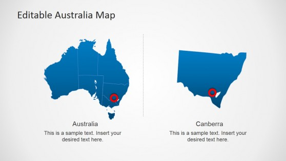 Editable Australia PPT Map with State