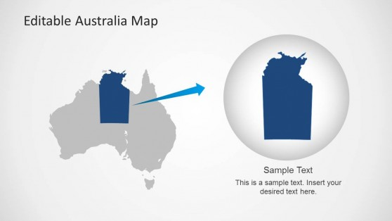 PowerPoint Australia Map with Territory Highlight