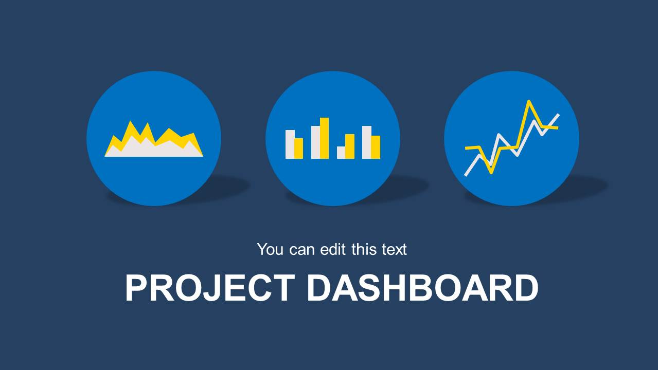 blue project dashboard powerpoint template - slidemodel, Presentation templates