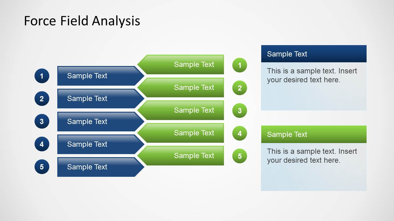 what is a template in powerpoint - simple force field analysis powerpoint template slidemodel