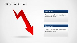 3D Thunderbolt Arrow Design for PowerPoint