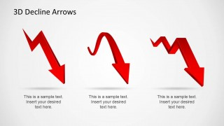 3 3D Decline PowerPoint Arrows & Shapes