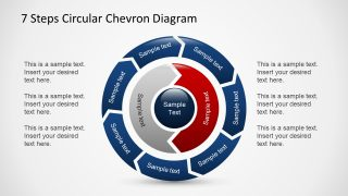 PowerPoint Circular Text 7 Steps