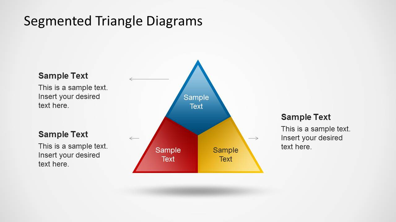 Segmented Triangle Diagrams For Powerpoint Slidemodel