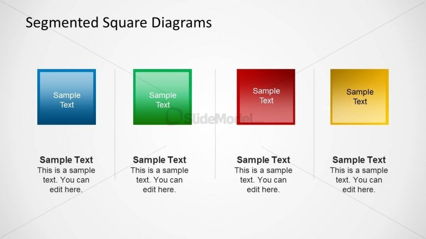 4 Square Shapes in PowerPoint
